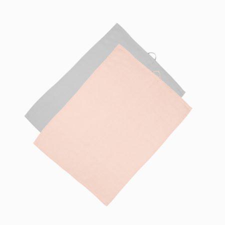 rosa/grå kökshandduk