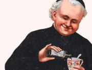 En man som håller i en kopp